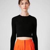 2014 Women Slim Dew Waist Rib Knitted Fashion Solid Skinny Shiort Pullover Sweater MY0001