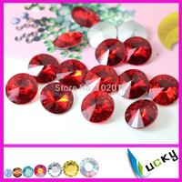 siam color rivolis 8mm 10mm 12mm 14mm 16mm 18mm sharp back crystal strass,jewelry rhinestones Freeshipping by CAM