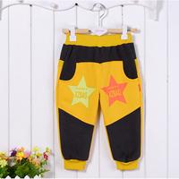 2014 High Quality Boy & Girls Sanding Casual Fleece Cotton CVC Pants for Autumn Winter Baby Thick Long Legging Trousers
