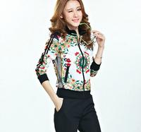 Amazing flower pattern print women comfortable tracksuit outdoor wear,jogging suits for women female brand sport suit sportswear