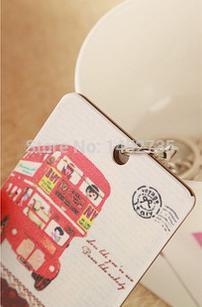 New Arrival Japan and South Korea cartoon bus acrylic card set & portable bank card sets(China (Mainland))