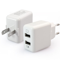 Conversion Plug Adapter 2.4A Dual USB Charger mobile power outlet dedicated shipping abroad
