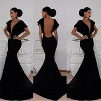 Vintage Elegant 2014 new  women sexy dress women full length embroidery bodycon Vestidos Prom dress Wedding Maxi Dresses