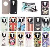 SKull Anchor Sexy Girl UK US Flag Owl Flip Leather Wallet Phone Cover Case For LG G3 Case Cover for LG G3 Optimus D855 D850