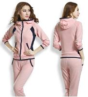Hot sale korea design casual sport suit clothing set for women,brand tracksuit slim outdoor sports wear tracksuits jogging suits