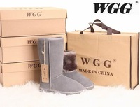 Hot Selling Fashion High Quality WGG Brand genuine leather fur Warm Winter Snow Boots plus size woman 5-10SIZE