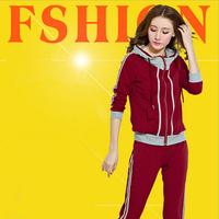 High collar fasion design hot sale women tracksuit brand,autumn and winter female jogging suits sport suit women brand sportwear