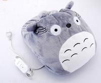 Plush USB Foot Warmer Shoes Soft Electric Heating Slipper Cute Totoro Monkey many colors