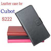 Cubot S222 Case New Flip Leather Wallet Cover Case for Cubot S222 Case With 2 Card Slots Free shipping