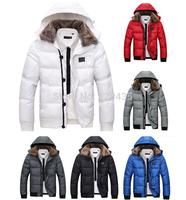 men down coat Men's coat Winter overcoat Outwear Winter jacket hooded thick fur jackets outdoor Free shipping 6301