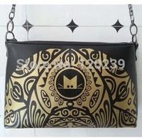 2015 RAXH New handbag bright printing MM Single Shoulder Bag Messenger Bag all-match casual chain bag