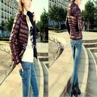 2014 New Fashion Ladies down short design coat Winter jacket women winter outerwear 5 color clothes women down parka