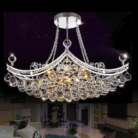 Free shipping hot sales L63.5*W36.5cm modern crystal chandelier lustres de cristal light for living room/ bedroom