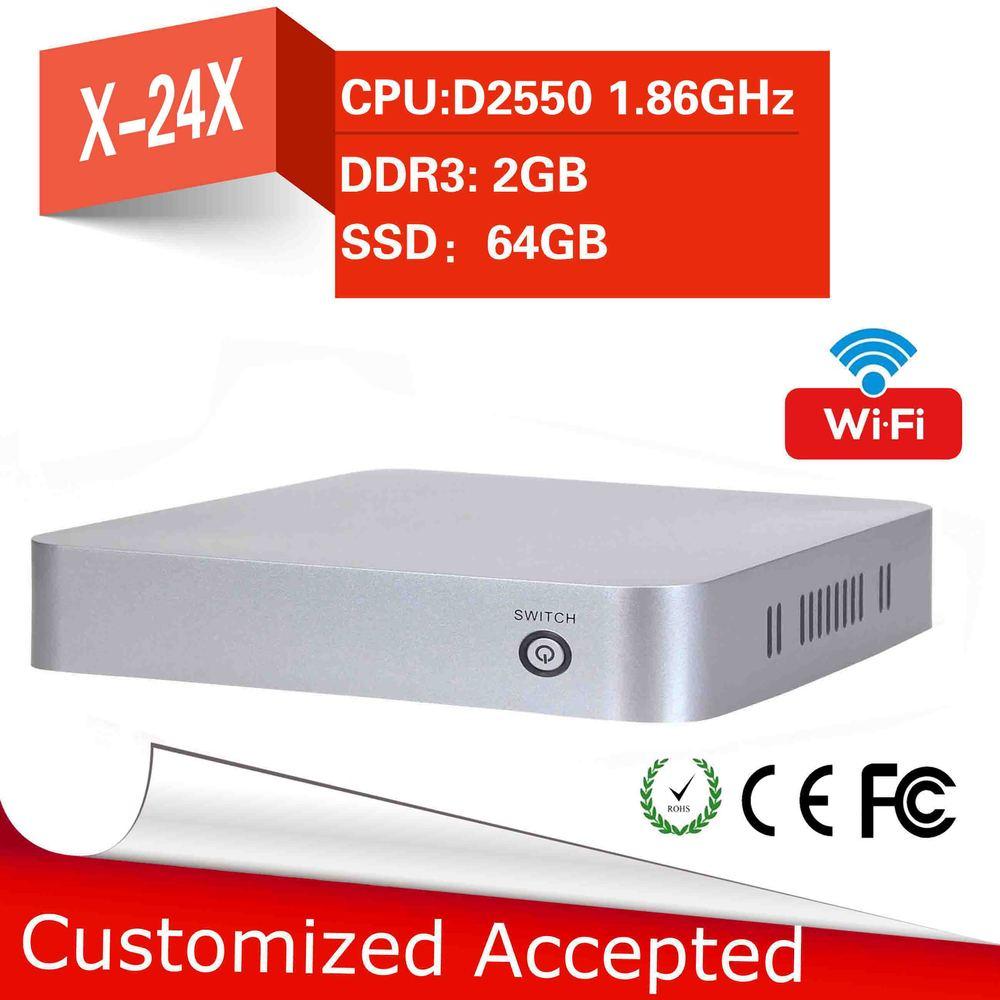 intel D2500 vga linux server can run Linux window 7(Dual core 1.86GHZ 2GB RAM 64GB SSD)computer keyboard mini pc thin cleint(China (Mainland))