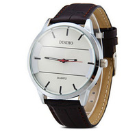 Brand New Famous Brand Fashion Wristwatches For Man Round Dial Silver Dial Watches Leather Strap Watches