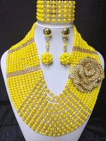 Splendid African Beaded Crystal Jewelry Set African Crystal Beads Jewelry Set for Wedding 2014 NEW Colors BJ15412