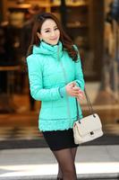 Free Shipping 2014 Plus Size New Thick Warm Jackets Women's Winter Jackets 5xl Coat XXXXL