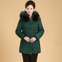 6XL Black Long Slim Thick Cotton Coat casacos de inverno Name Brand Winter Coats Jacket with Fur Woman