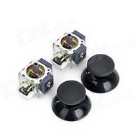 Repair Parts Replacement 3D Joystick Set for XBox 360 - Black + Silver + White (2 PCS)