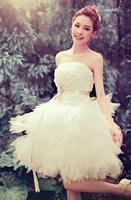 Free shipping new arrival 2014 new bride bridesmaid dress wedding dress