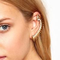 Min.Order $8.8(Mix Order) Free Shippig Best Selling Fashion Personality Punk Spiky Rivet Ear Cuff Stud Earring FE0137
