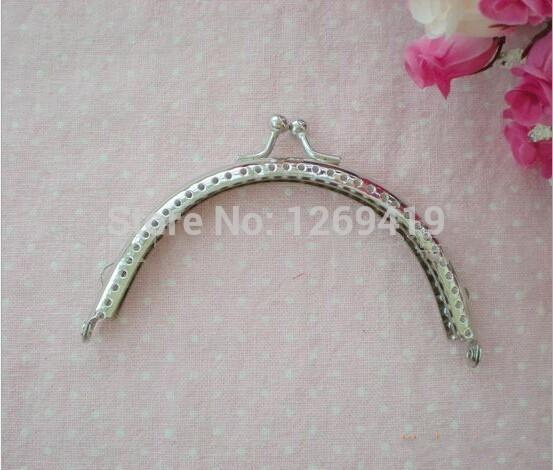 105MM 20PCS/Lot Silvering Purse Frames,Semicircle Purse Metal Frame Kiss Clasp For DIY Bag Clutch Accessories Handbag Handle(China (Mainland))