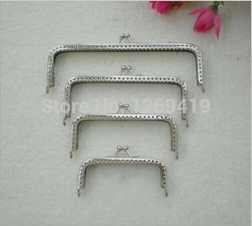 8.5/10/12/15 CM Coin Purse Frames,Square Silvering Purse Metal Frame Kiss Clasp DIY Bag Clutch Accessories Sewing Handbag Handle(China (Mainland))