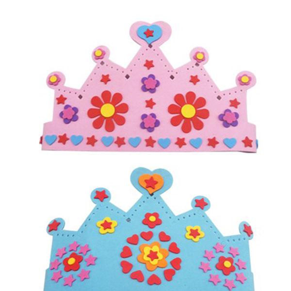 New Hot Crown Design EVA Foam Kid DIY Craft Development Play Toy Gift Multi Style New Free Shipping(China (Mainland))