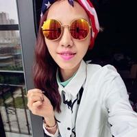Women Nerd Glasses Round Reflective Sunglasses Retro Flip Up Eyewear 4ColorFree&Drop Shipping
