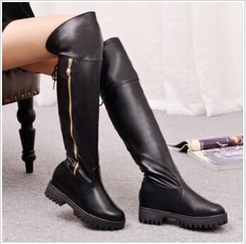 2014 novo overknee botas mulheres moda botas cavaleiro salto baixo saltos grossos tx296 carregadores das mulheres(China (Mainland))