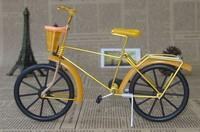 Free shippinh with Aluminum handicraft black wheel bike model/with Basket/cjh-C
