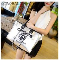 2014 female bag letters embroider line big-name chains leisure bag shoulder hand female bag