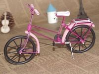 Free shippinh with Aluminum handicraft black wheel bike model/cjh-D/8 color