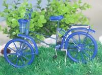 Free shippinh with Aluminum handicraft Color wheel bike model/with Basket/cjh-B