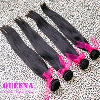 Brazilian Virgin Hair Natural Straight Human Hair Extension 4Pcs Lot  Virgin Brazilian Hair Weave Queena Hair Products Grade 5A