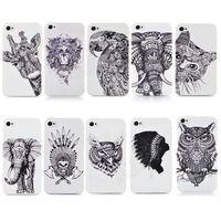3D cute Cartoon Animal world logo giraffe Elephant OWL Phone Case Cover For Iphone 4 4S PT1393