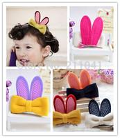 Hot Sale 15pcs Baby Girls Hair Bows rabbit ear Bows Hair Clips Korea Kids Children three-dimensional Hair Accessories