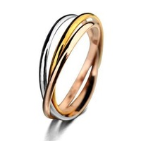 Top quality Italina Rigant 3 Colors Plated Rings for women