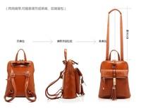 2014 fashion brief fashionable casual black shoulder bag big bag cowhide leather waxing women's genuine leather handbag10PCS/LOT