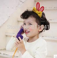 12pcs/lot Baby Girls Children Hair Accessories rabbit ear bow Headwear lovely kidsHair Band Headband Free Shipping P63