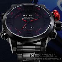 Men's Military Luxury Wrist Sports Watches Full Steel Male Quartz Analog Digital LED Waterproof Wristwatch Masculino Relogio