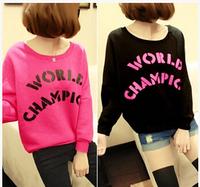 Printed Sweatshirt 2014 Women Hoody Fashion TODAY Letters Printed Fleeces Hoodies Female Long Sleeve Warm Short Pullovers HO8079