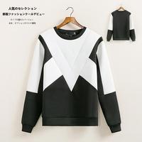 Men neoprene round collar LONG SLEEVE sweatshirt element pullover sweatshirts tops N50029