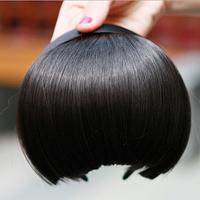 Fashion Women Bangs Wigs Cosplay Female Hair Bang With Headband Black Brown Woman Hair Straight Fringe Wig Free Shipping