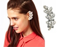 cxt98076 Earring Jackets Cuffs Rhinestone Crystal 2-Color  Gold AND Sliver 5Pcslot