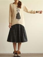 2014 New Style Korean O-neck loose knit Female Women Sweater Coat #308269 Free Shipping