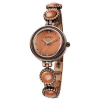 Eyki Kimio Fashion Vintage Analog Quartz Wrist Watch Dress Bronze Band Bangle Watch Women