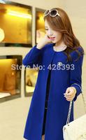 Free shipping ! Women tops 2014 new women fashion woolen coat big yards