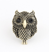 Min. Order $8.8(Mix Orders) Fashion Lady 2014 New Classic Vintage Cute Owl Ring FR0132