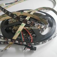 5M WS2812B 300LEDS Black PCB Waterproof IP65 5050 RGB LED Strip Light Addressable DC 5V Individually Addressable